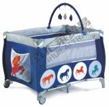 En716 Approved Baby Playpen with Multi-Function Second Layer