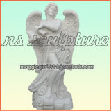 Natural White Marble Angel Ms1702