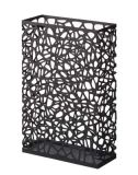 Metal Rectangle Shape White and Black Home and Office Decor Umbrella Holder