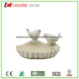 Polyresin Garden Birds Birdbath Figurines for Outdoor Decoration