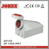 IP67 5p 125A Surface Mounted Industrial Socket