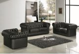 Black Modern Chesterfield Leather Sofa for Living Room Sofa Furniture