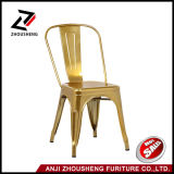 Glossy Gold Metal Stackable Tolix Style Industrial Chic Dining Bistro Cafe Chairs