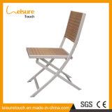 Patio Leisuure Dining Furniture Rattan Aluminum Metal Hotel Bistro Folding Chair