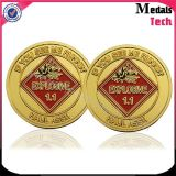 Commemorative Good Quality Medallion Copy Gold Coin with Color Filled