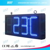 High Brightness Blue Color Time & Temperature LED Sign for Outdoor