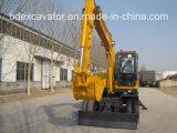 Construction Machinery 0.3m3 Wheel Excavators Machine for Sale
