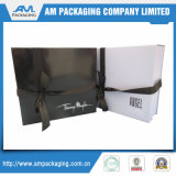 Handmade Rigid Foldable Cosmetic Gift Box Ribbon Attached
