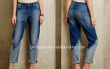 Double Color Loose Ladies Exotic Jeans