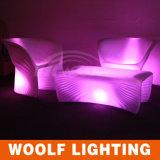 Fashion Colorful LED Light Garden Coffee Sofa