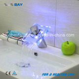 LED Brass Body LED Glass Wash Basin Faucet Tap