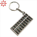 Professional Design Engraved Logo Metal Keyring with Lanyard