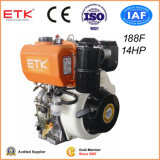 14HP Air Cooled Single Cylinder Vertical Direct Injection Camshaft Output Portable Diesel Engine with Outside Oil Bath Filter