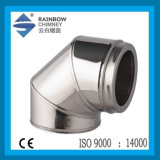 Twin Wall Stainless Steel 90 Degree Elbow for Chimney