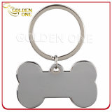Personalised Dog Bone Shape Blank Metal Key Tag