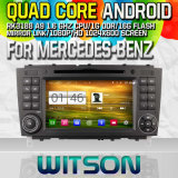 Witson S160 Car DVD GPS Player for Mercedes-Benz with Rk3188 Quad Core HD 1024X600 Screen 16GB Flash 1080P WiFi 3G Front DVR DVB-T Mirror-Link Pip (W2-M093)