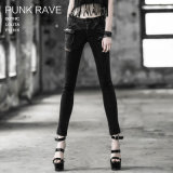 Gothic Style Fashion Ladies Women Denim Jean Pant (K-188)