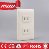 Middle East Saso Approved Beige 86size 2gang 10A Wall Socket