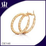 New Fashion Rope Shape Gold Hoop Earrings