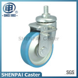 Brake Steel Core Nylon Threaded Stem Swivel Caster Wheel