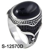 New Design Silver Jewelry Ring with Natural Agate