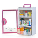 Red Aluminum Locking First Aid Medication Storage Case with Handle