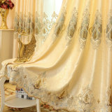 European Luxury Chenille Embroidery Blackout Window Curtain (09F0041)