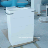 Corian Acrylic Solid Surface Modern Bathroom Standing Basin with Cabinets