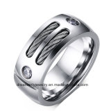 Wholesale Fashion Men′s Wire Cable Jewelry Stainless Steel Cable Ring