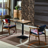 Attractive Restaurant Furniture Sets with Wooden Frame Chair and Durable Table (SP-CT782)