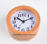 LED Wooden Clock silent Desk Table Alarm Clock for Gift