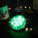 Submersible 10 LED RGB Multi-Color Party Vase Base Light Waterproof Decortion Light W/ Remote Control