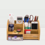 Family Household Stationery Wooden Multi Functional Storage Holder