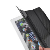 Hot Sale Magnetic Carbon Fiber Smart Cover for iPad Air 1 2 Front Cover Glossy Back Case