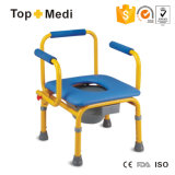 Hot Sale Stainless Steel Soft Seat Children Commode Chair Tcm813 (S)