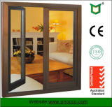 As2047 Double Glazed Windows, Aluminium Frame Casement Glass Window with Mosquito Net