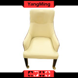 European Solid Wood Dining Chair Blackjack Casino Table Games Casino Chair with Oak Handrails Ym-Dk13