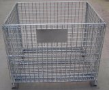 Welded Wire Mesh Collapsible Storage Cage with Wheels for Logistics