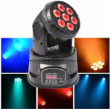 7*15W RGBWA UV 6 in 1 Mini LED Wash Moving Head Light