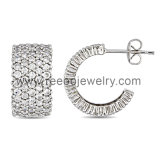 925 Silver Pave Stud Earrings