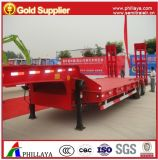 30 Tons Lowbed Lowboy Semi Trailer for Heavy Machinery Transportation