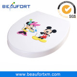 UF Beautiful Pattern Toilet Seat with Slow Down