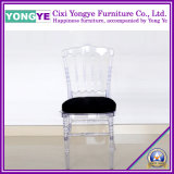 Clear Tiffany Chair with Black Cuhsion