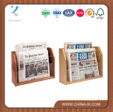 Tabletops 2-Tiered 2 Pockets Newspaper Rack Fit Standard Papers