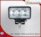 40W 2800lm/2500lm Auto LED Driving Light, 6500K IP68 Rhos E-MARK