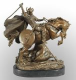 Horse Riding Soldier Bronze Sculpture (HY0763)