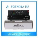 2017 New Best Buy Zgemma H5 Satellite TV Reciever High CPU Liunx OS E2 Mepg Hevc/H. 265 DVB-S2+T2/C Twin Tuners