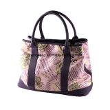 Women′s Faux Leather PVC with Full Prints Travel Tote Sports Bags