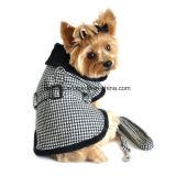 Fur-Trimmed Dog Harness Coat Pet Winter Clothess