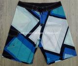 Oeko-Tex Flat Waist Polyester Patterned Men Board Short Swimwear